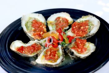 Dajio Restaurant, Chargrilled Ocracoke Oysters