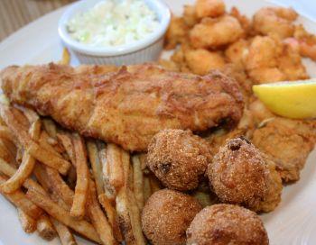 Gaffer's Restaurant on Ocracoke Island, Fried Pamlico Platter