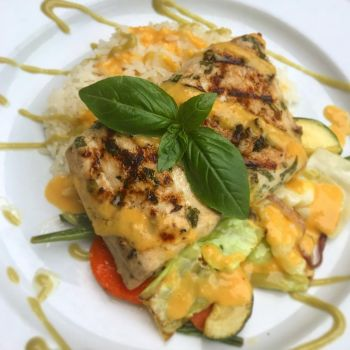 Back Porch Restaurant, Lemon Basil Marinated Wahoo