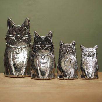 Village Craftsmen, Pewter Measuring Spoons: Cats