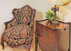 Luxury furnishings in the penthouse suite at Captain's Landing