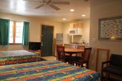 Efficiency room at Pony Island Motel