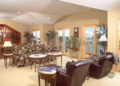 Living room of Captain's Landing's Penthouse suite