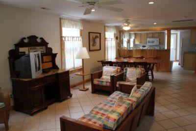 Interior of Pony Island I Cottage - Pony Island Motel